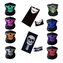 Halloween Scary Skeleton Mask Festival Skull Masks Skeleton Motorcycle Bicycle Multi Masks Scarf Half Face Mask Cap Neck Ghost
