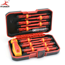 13 Pcs VED Insulated Screwdriver Set CR-V High Voltage 1000V Magnetic Phillips Slotted Torx Screwdriver Durable Hand Tools
