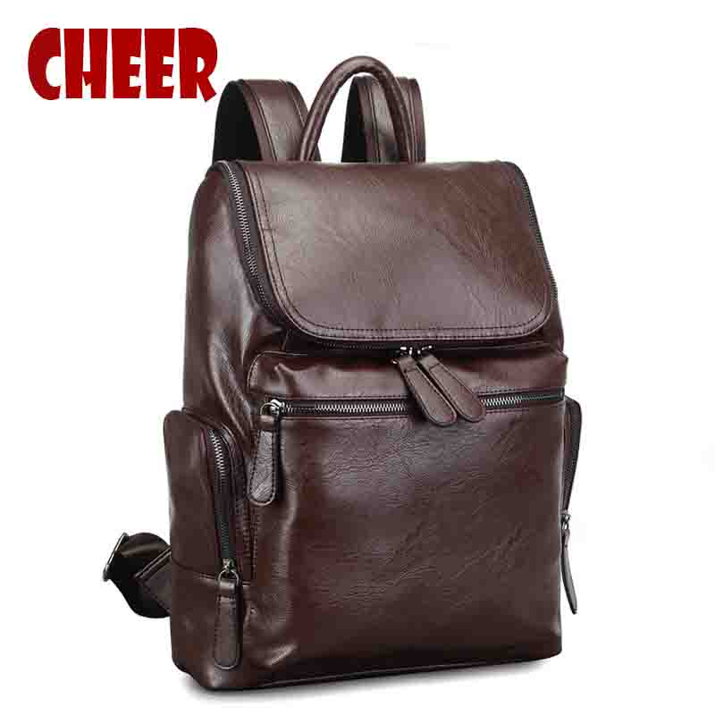 Men\'s backpack school male bag laptop notebook bac...