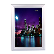 1Pc A4 Silver Poster Stand Snap Frames Aluminium Clip Wall Poster Displays Home Decorate(China)
