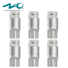 NAO 6x T10 led Bulb W5W LED Interior Lamp Car DRL 3030 SMD 194 168 COB Crystal blue Pink Yellow Red Blue Green White 12V 6000k