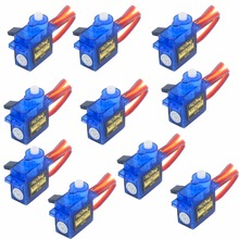 10PCS/lot RCmall 9g SG90 Micro Servo motor 180 Degree For QAV250 450 RC Car Boat Quadcopter Airplane Analog Servo FZ0101-RC(China)