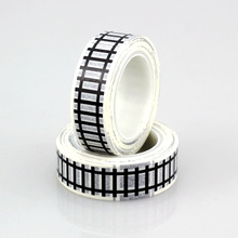 Buy 1X 10m Train track Road Tape Traffic Washi Tape Cute Tape Scrapbooking Tools Christmas Gift Packing Kids Car play for $1.08 in AliExpress store
