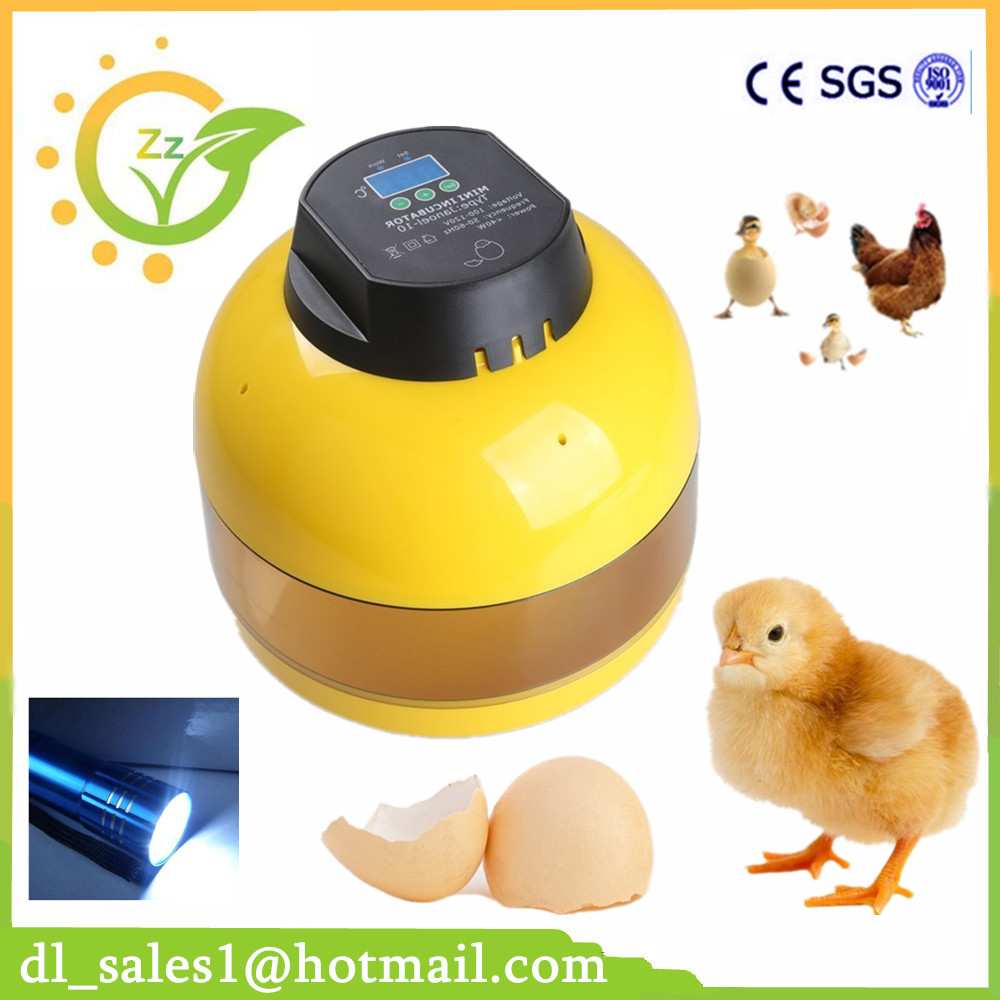 Fully New Automatic Digital 10 Eggs Incubator For Hatching Duck Incubator Poultry Hatcher Incubator Chicken Egg Incubator<br>