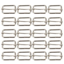 Silver Tone Nice Square Metal Belts Buckle Loop Ring For Backpack Luggage HandBag Leather Bag Shoe Doll Hat Slide DIY Accessorie