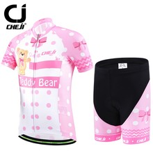 CHEJI Unisex Kids Childrens Ropa Ciclismo Cycling Jerseys Shorts Bicycle Wear Bike Clothing Kits Sports Clothes Sets S-XXL Teddy(China)