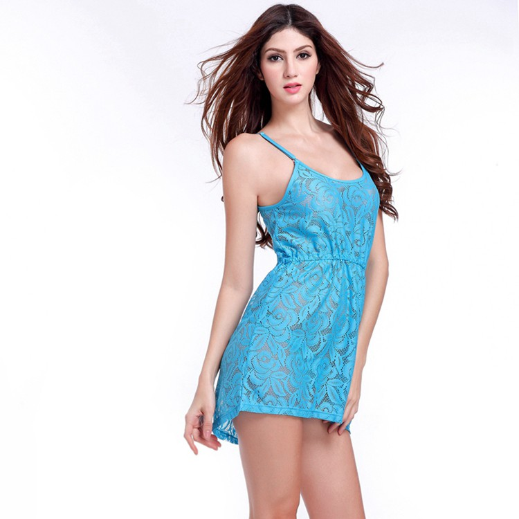 17 Adjustable Spaghetti Dress Tunic for Beach Slim Fit Waist Wrinkle Cover-Ups Sexy Women Plus Size Lace Tunic Beach Dress 12