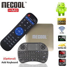 Buy MECOOL Smart Android TV Box HM8 Android 6.0 Amlogic S905X Quad Core 1G/8G 802.11 2.4GHz WiFi H.265 HEVC 4K 1080P HD Media Player for $33.88 in AliExpress store