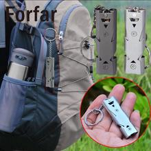Forfar Stainless Steel Outdoor Survival Whistle Life Camping Hiking Rescue Emergency Travel saving Tool