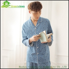2pcs/lot Men's Pajamas Spring ,Summer and Autumn Long Sleeve Sleepwear Cotton Plaid Cardigan Pyjamas Men Lounge Pajama Sets(China)