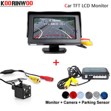Koorinwoo Auto Movable Parking Guide camera Car Parking Sensors Reversing Radars with Car Monitor parktronic Buzzer Detector(China)