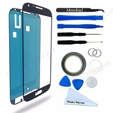 For Samsung Galaxy S4 i9500 i9505 Black Display Touchscreen replacement kit 12 pieces incl tools / pre cut Sticker MMOBIEL(China)