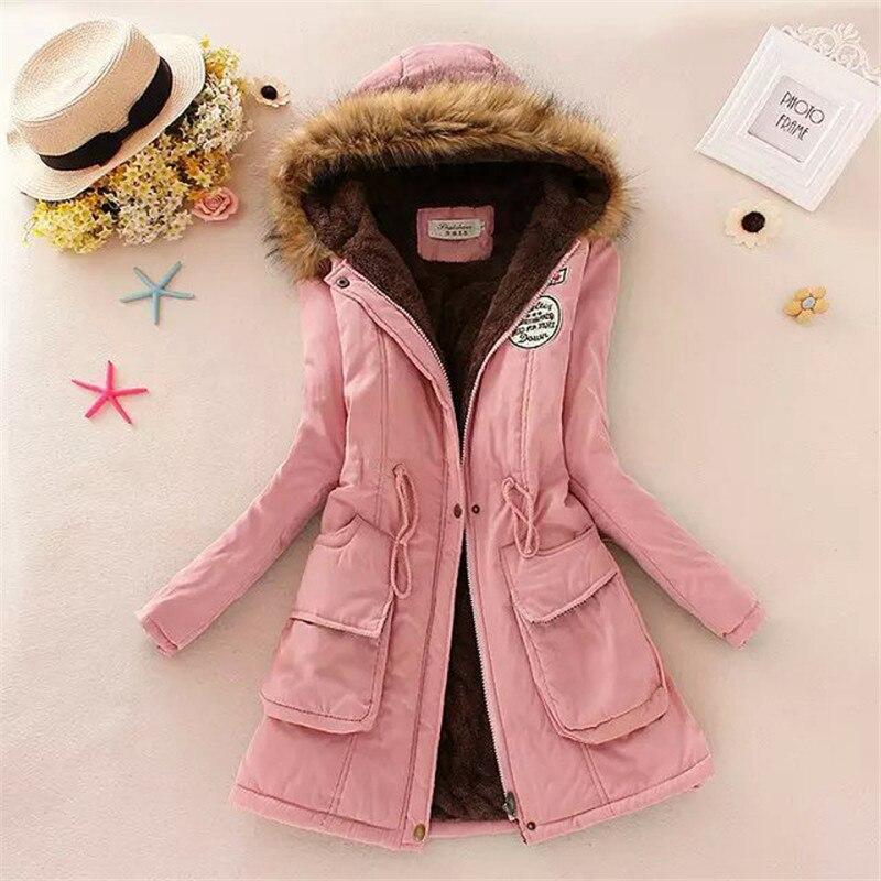 Wadded Jacket Warm Women Basic Coats Winter Fur Collar Jackets For Women Military Coats Long Parka Plus Size Coats Parkas C1387Одежда и ак�е��уары<br><br><br>Aliexpress