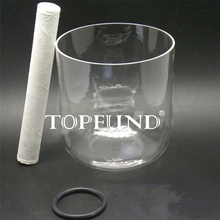 "Buy TOPFUND Clear Quartz Crystal Singing Bowl D# Note Sexual Chakra 7"" local shipping"