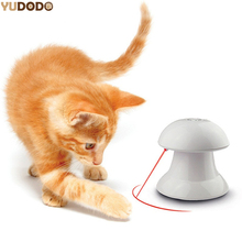 ABS Plastic 360 Degree Automatic Interactive Dart Laser Light Teaser Fun Exercise Cat Toy For Pet Cat Dog Funny(China)