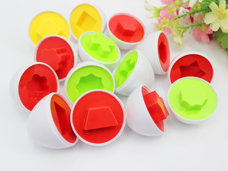 6Pcs/set Brand New Learning Education Toys Mixed Shape Wise Pretend Puzzle Smart Eggs Baby Kid Learning Kitchen Toys Tool 7