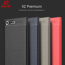 Buy hacrin Case Luxury Soft Shockproof Anti-Knock Leather Grained TPU Protective Back Cover Case Sony Xperia XZ Premium for $3.99 in AliExpress store