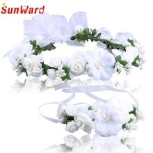 SunWard Good Deal Pretty Wedding Hair Accessories Wrist Flower Garland Seaside Holiday Pictures 1PC_U00442