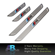 Car Styling 4PCS Stainless Steel Car Door Sill Scuff Plate Guards For BMW X5 X6 E70 E71 2007-2015 Car Accessories