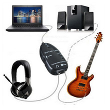 Easy Plug and Play Guitar Link to USB Interface Cable for PC and Video Recording