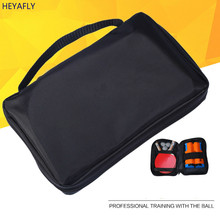 Oxford cloth black table tennis racket cover bag square racquet sets of high quality supply pingpong bat bag covor(China)
