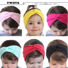 Stretch Twist Headband Kids Turban Hair band Wrap Bandana Headwear Hair Accessories w--142(China)