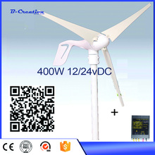 Green Energy 400 Watt 12V/24V Anticorrosion Farm/ Home / Wind Power Turbine / Turbines Generator +Wind controller