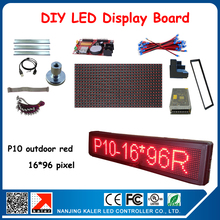 P10 Advertising led display board with 3pcs p10 red led modules,led display magnets, power, frame, corner etc. diy kits(China)