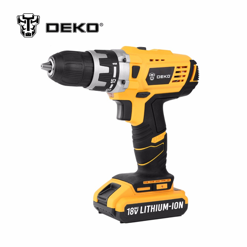DEKO GCD18DU2 18V DC New Design Mobile Power Supply Lithium-Ion Battery Cordless Drill/Driver Power Tools Electric Drill(China (Mainland))