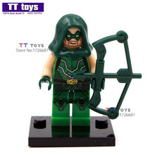 Single Sale 041 Green Arrow Dolls DC Super Hero Building Block Model DIY Assemble Figure Children Gift Toys(China)