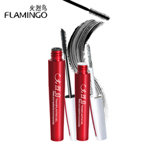 China Top Mascara Brand Flamingo fiber combination mascara incredible double lengthening curling of slim Mascara set 6072(China)