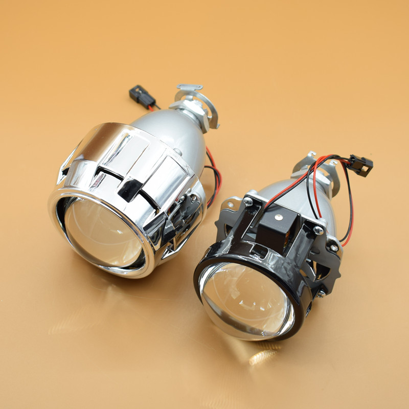 New Full Metal 2.5 HID Bi xenon Lens Projector Headlight Head Lamp Lenses H4 H7,Use H1 Xenon Bulb Car Styling<br>