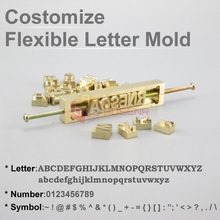 Custom Brass Interchangeable Flexible Letters Stamp Mold Symbols Customization Font for Leather Hot Foil Stamping