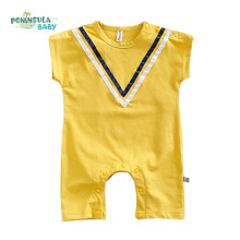 Summer Cotton Baby Romper Newborn Body Baby Short Sleeves V Line Underwear Infant Coverall Boy Girl Fashion Clothes