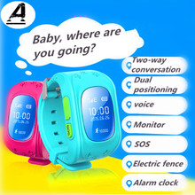 Kids Smart Watch GPS Phone Smart Bracelet Hlemfo Lem GPS Tracker Anti-Lost One Button SOS Positioning Baby Position IOS Android(China)