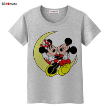 BGtomato Mickey and Minnie lovely friends T-shirt women popular cute cartoon shirts Good quality clothes brand casual tees