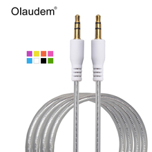 Male to Male 3.5mm Crystal Stereo Audio Cable Adapter For Mobile Phone Tablet PC MP3 Mp4 Player Car Stereo AUX Cable Wire AXC238(China)