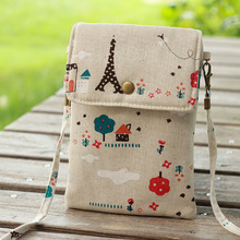 Women Casual Shoulder Bag 2017 Summer Cotton Telephone Bags Printing Kids Girls Mini Messenger Bag Crossboy Bags Gifts
