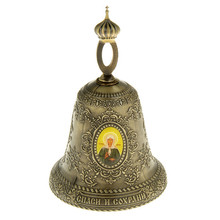 "Bell ""Moscow matt rona - st. Petersburg jas - Paraskeva"".archaize home decoration Church  ornaments.Metal craft bell.God bless"