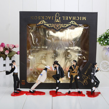 5pcs/set 12cm Michael Jackson PVC Action Figure MJ Collection Model Toy