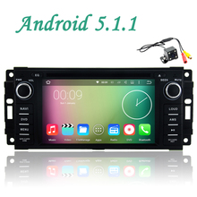 Free camera canbus steer wheel control Android 5.1 Car DVD Player GPS RDS Radio Wifi 3G For Jeep Compass Grand Cherokee Wrangler