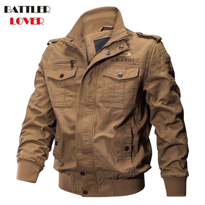 Military Pilot Jackets Men Winter Autumn Bomber Cotton Coat Mens Tactical Army Jacket Male Hombre Casual Air Force Flight Jacket