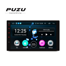 "PUZU 7""2din Quad core Android 1024*600 car radio tape recorder GPS WiFi USB Navi Bluetooth AM FM DVR TPMS head unit player"