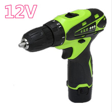12v 18stallsTwo Speed Rechargeable Lithium Battery Hand Cordless Drill bit Charger Electric screwdriver power tool accessory set