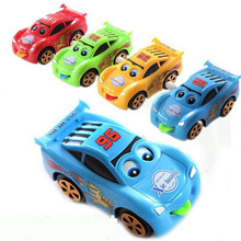 1Pcs New Hot Sale Cartoon Multifunction Wind Up Clockwork Small Cars Kids Children Toys Eyes Mouse Can Move Color Random
