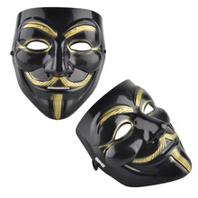 5 Type Party Black White Party Figure Anonymous Guy Fawkes Mask V Halloween Costume Decoration Fancy Dress Masquerade Masks