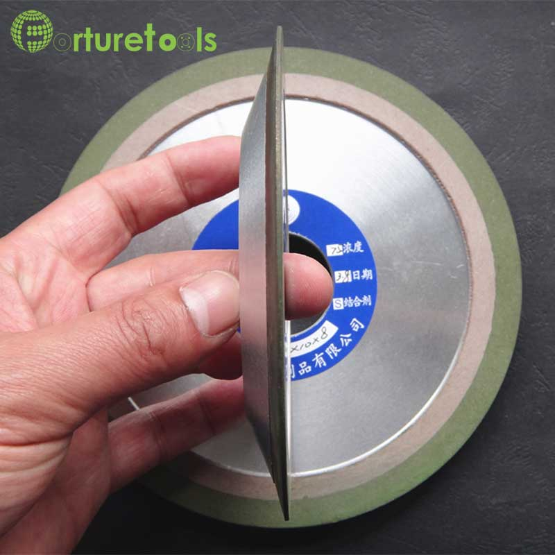 Diamond grinding wheel for HSS blade teeth woodworking sharpening wheels forturetools PDX green wheel 4/5/6 inch Diameter R003c<br>