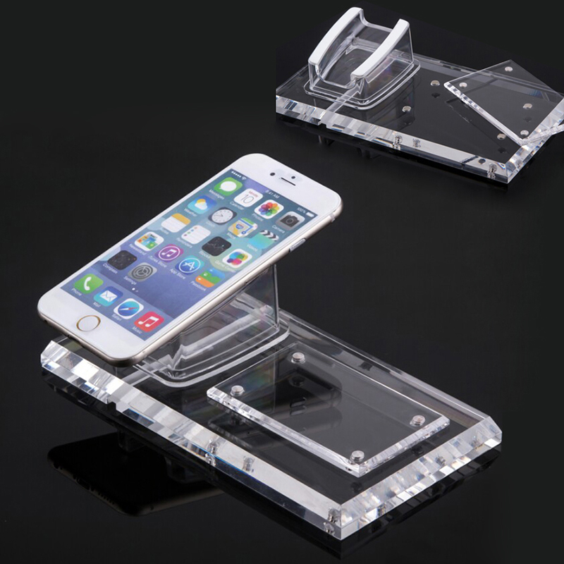 Acrylic security clear Iphone stand holder for phone shop anti-theft display<br>