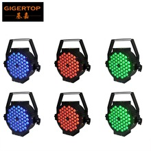 American DJ Mega 6pcs/lot Wide Floor RGB LED PAR can with 54 x 3 watt 3 in 1 LED's Up-Lighting System with 0-255 Strobe Effect(China)