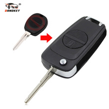 DANDKEY New Modified Folding Car Key Fob Case 2 Buttons Upgrade For Nissan Almera Primera X-Trail with A33 BLADE Flip Key Shell